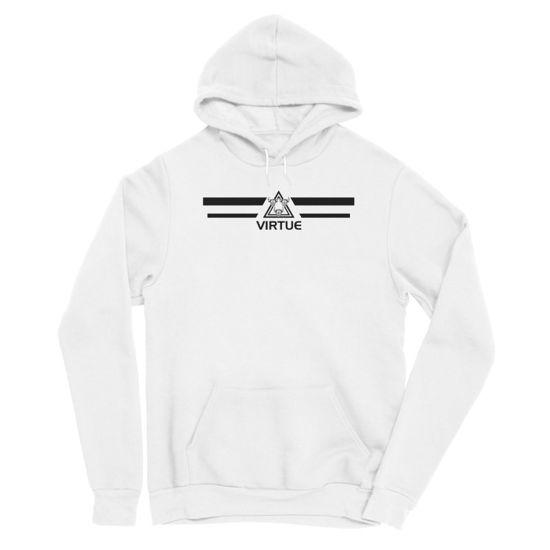 Triangles and Stripes Men's Sponge Fleece Pullover Hoody by Virtue - There's more to it