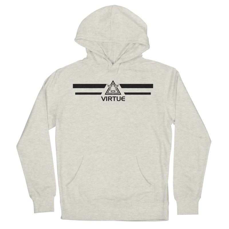 Triangles and Stripes Men's French Terry Pullover Hoody by Virtue - There's more to it