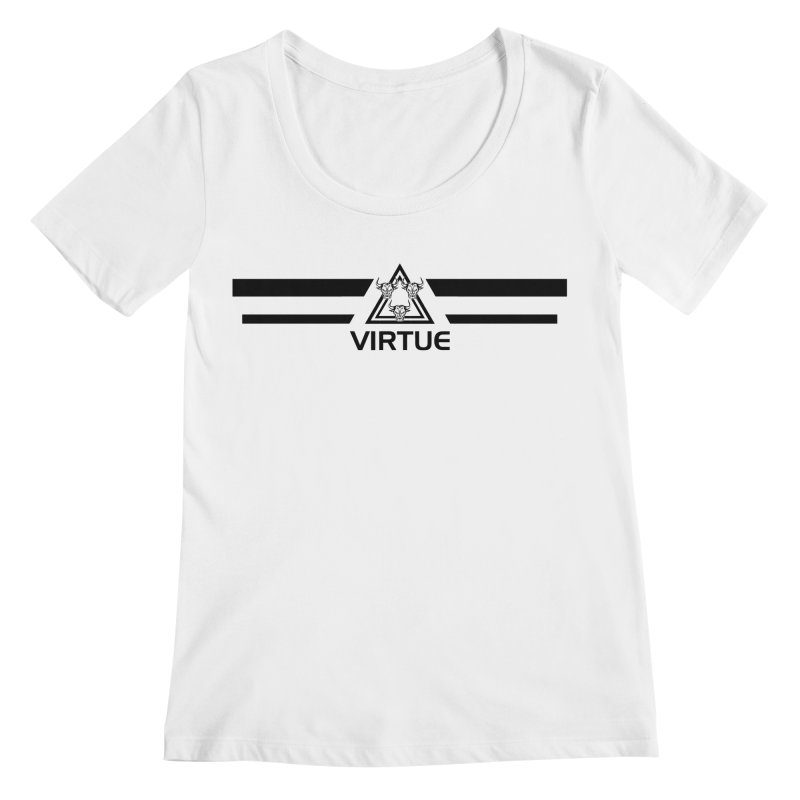 Triangles and Stripes Women's Regular Scoop Neck by Virtue - There's more to it