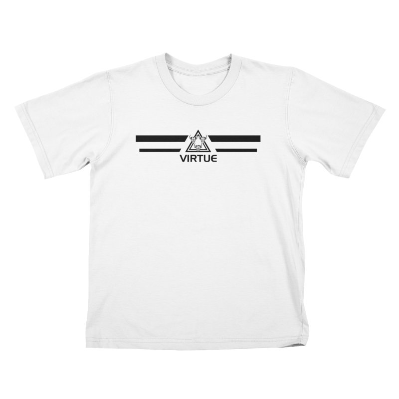Triangles and Stripes Kids T-Shirt by Virtue - There's more to it