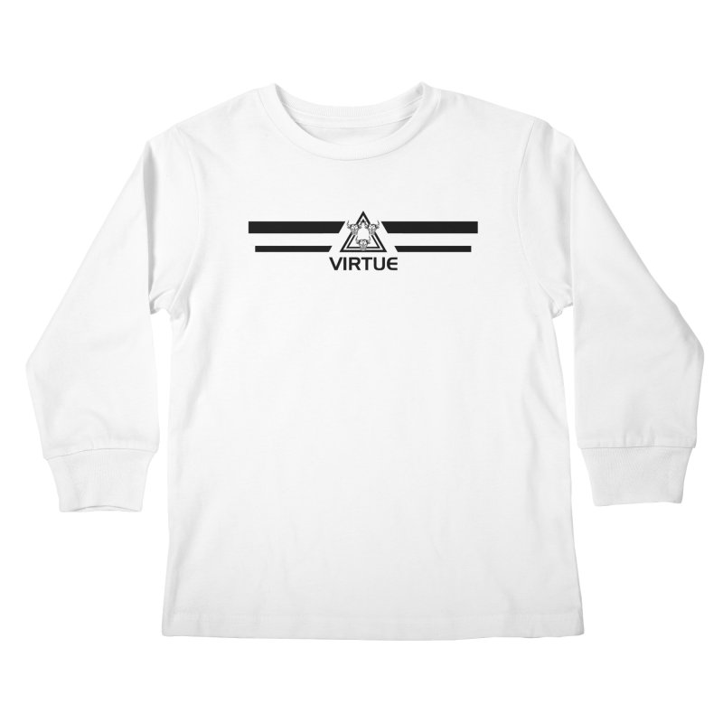 Triangles and Stripes Kids Longsleeve T-Shirt by Virtue - There's more to it
