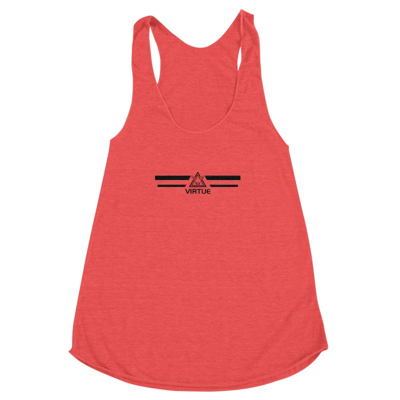 Triangles and Stripes Women's Racerback Triblend Tank by Virtue - There's more to it