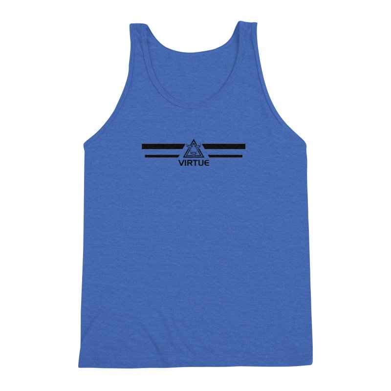Triangles and Stripes Men's Triblend Tank by Virtue - There's more to it