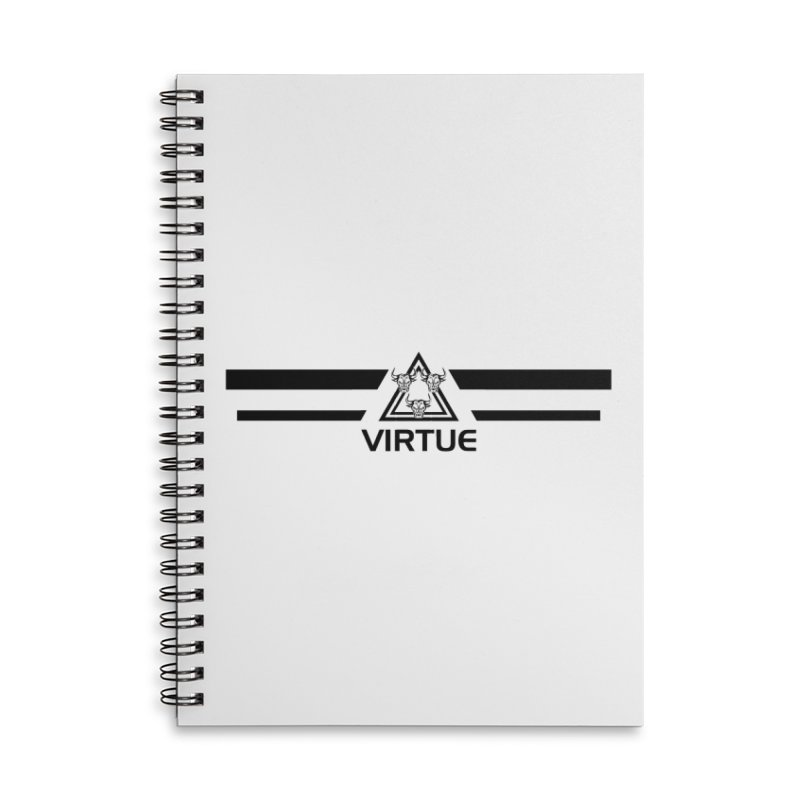 Triangles and Stripes Accessories Notebook by Virtue - There's more to it