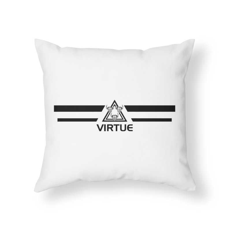 Triangles and Stripes Home Throw Pillow by Virtue - There's more to it