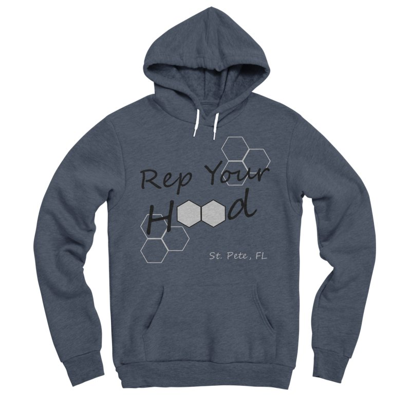 Rep Your Hood - St. Petersburg, FL Women's Sponge Fleece Pullover Hoody by Virtue - There's more to it
