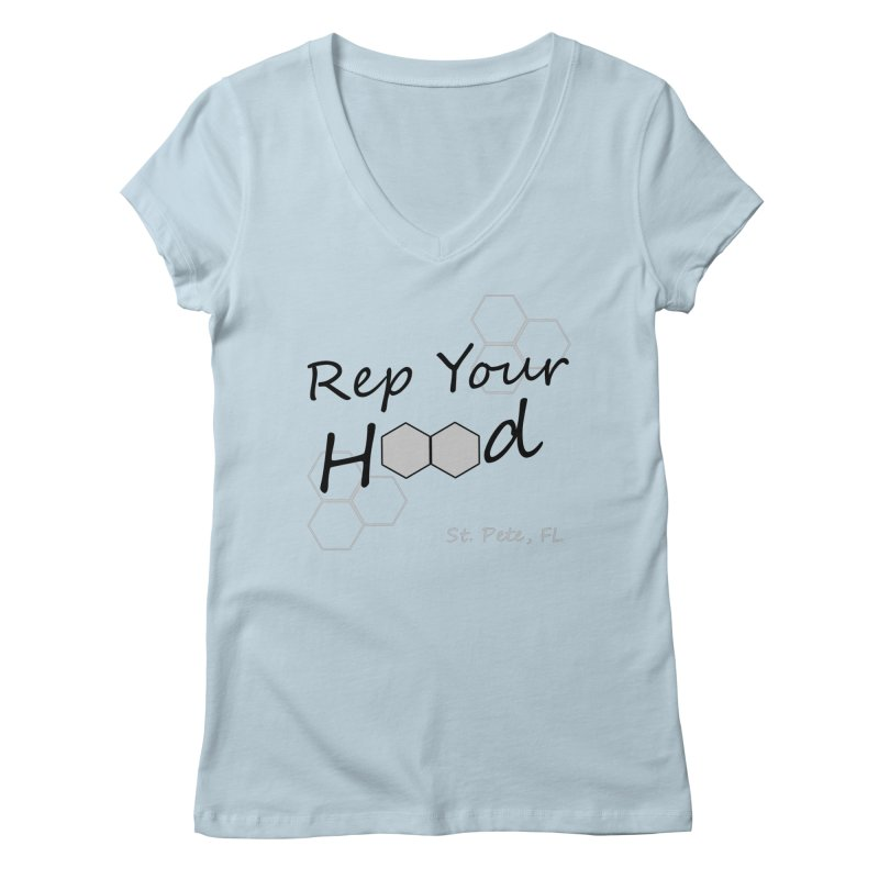 Rep Your Hood - St. Petersburg, FL Women's Regular V-Neck by Virtue - There's more to it