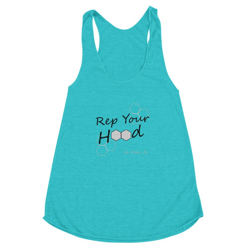 Rep Your Hood - St. Petersburg, FL Women's Racerback Triblend Tank by Virtue - There's more to it