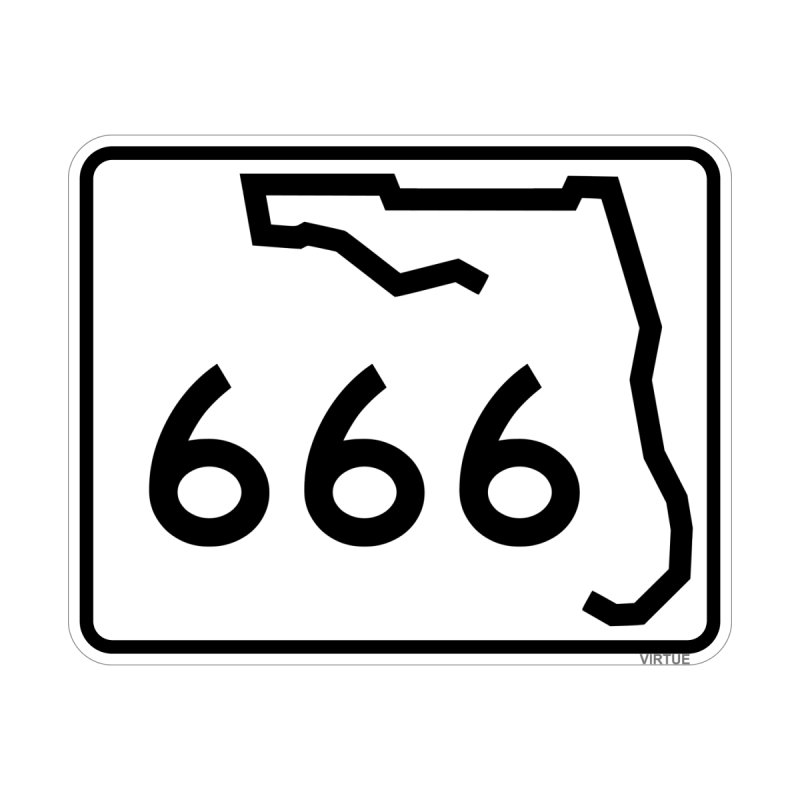 FL Highway 666 Home Shower Curtain by Virtue - There's more to it