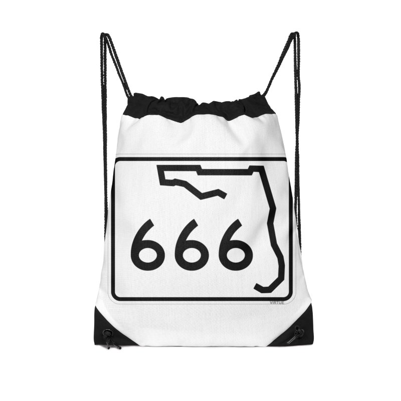 FL Highway 666 Accessories Drawstring Bag Bag by Virtue - There's more to it