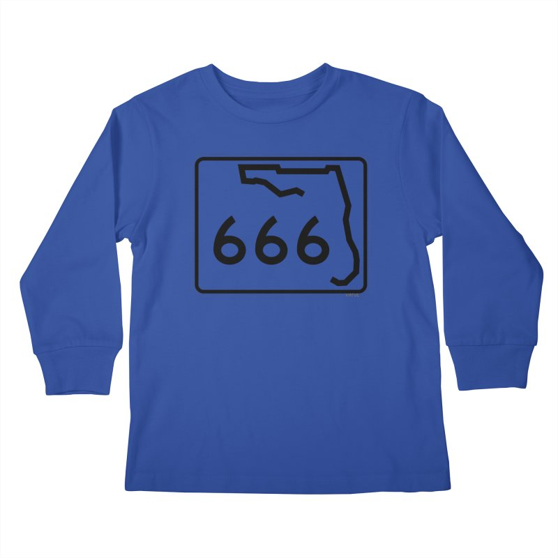 FL Highway 666 Kids Longsleeve T-Shirt by Virtue - There's more to it