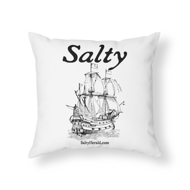 Salty Home Throw Pillow by Virtue - There's more to it