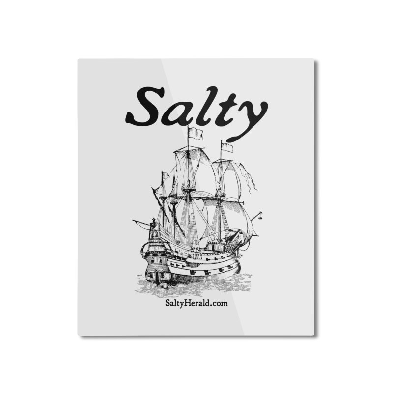 Salty Home Mounted Aluminum Print by Virtue - There's more to it