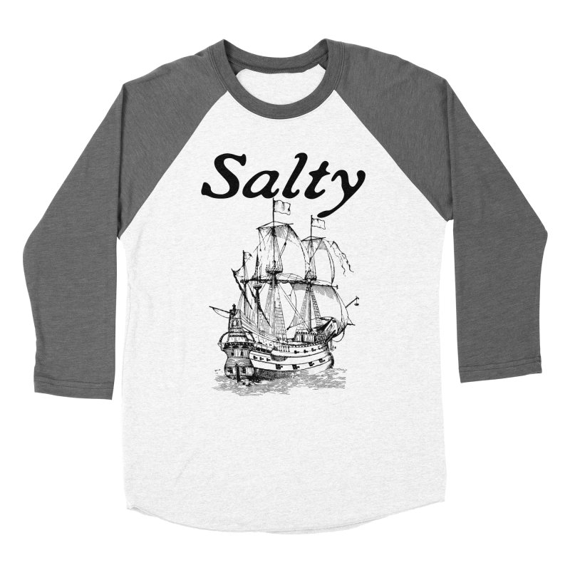 Salty Women's Baseball Triblend Longsleeve T-Shirt by Virtue - There's more to it