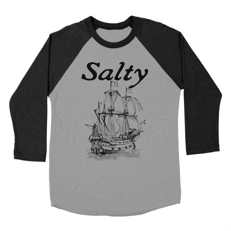Salty Men's Baseball Triblend Longsleeve T-Shirt by Virtue - There's more to it