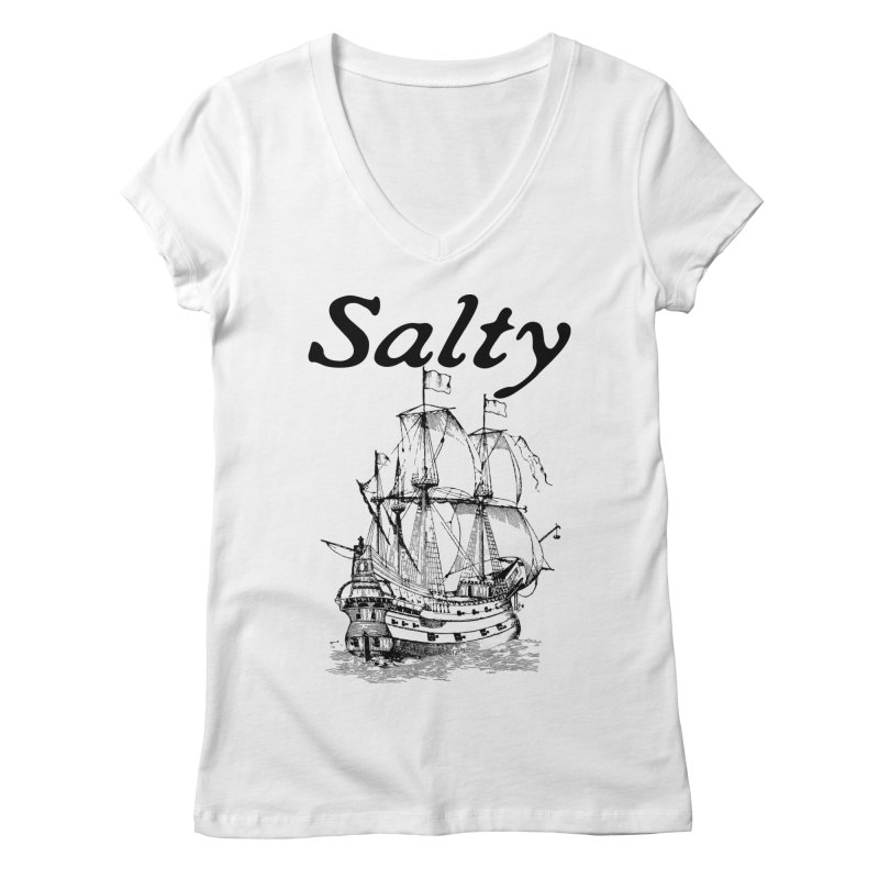 Salty Women's Regular V-Neck by Virtue - There's more to it