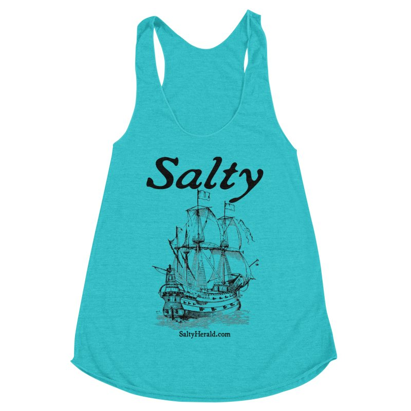 Salty Women's Racerback Triblend Tank by Virtue - There's more to it
