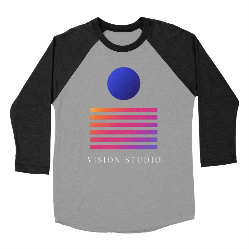 VHS VISION Men's Baseball Triblend Longsleeve T-Shirt by Vision Studio