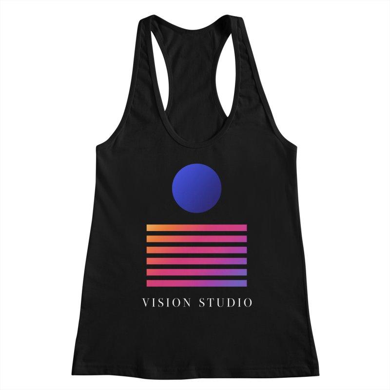 VHS VISION Women's Racerback Tank by Vision Studio