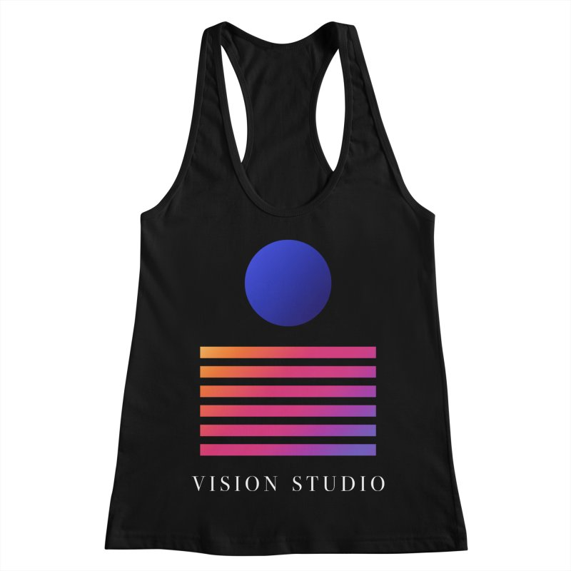 VHS VISION Women's Racerback Tank by Vision Studio