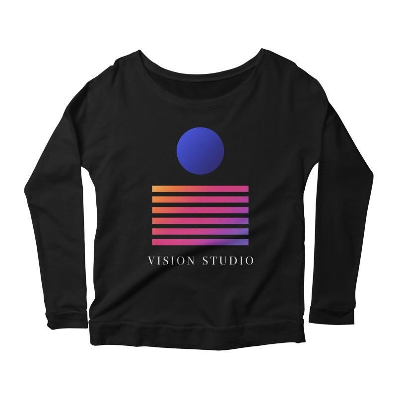 VHS VISION Women's Scoop Neck Longsleeve T-Shirt by Vision Studio