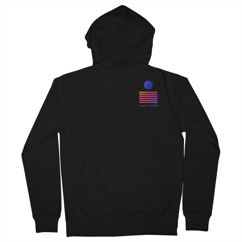 VHS POCKET DESIGN Men's French Terry Zip-Up Hoody by Vision Studio
