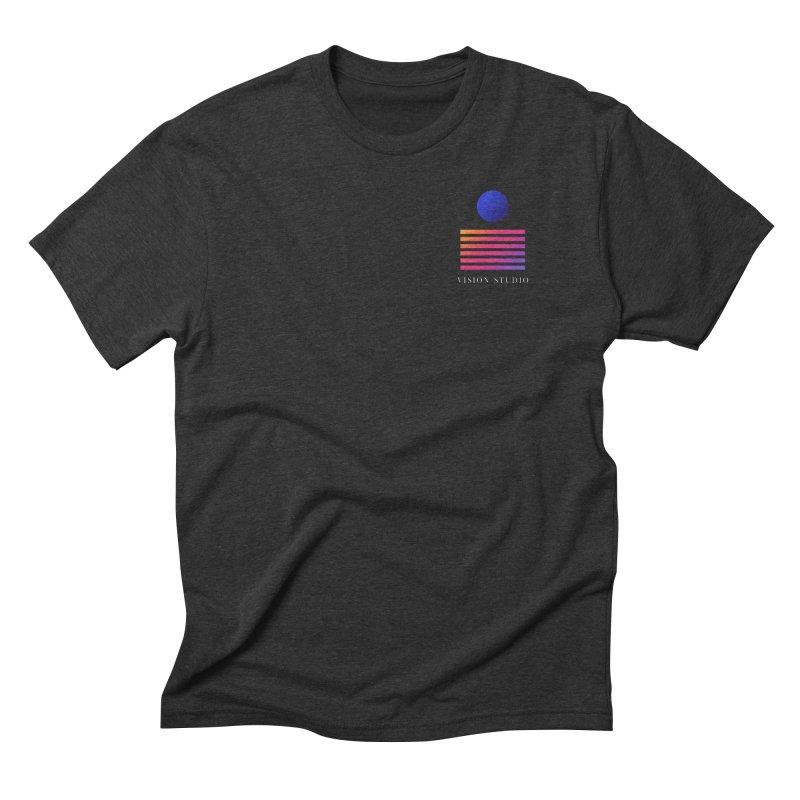 VHS POCKET DESIGN Men's Triblend T-Shirt by Vision Studio