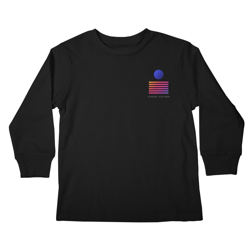 VHS POCKET DESIGN Kids Longsleeve T-Shirt by Vision Studio