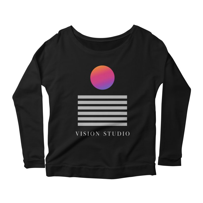 VHS DREAMS Women's Scoop Neck Longsleeve T-Shirt by Vision Studio