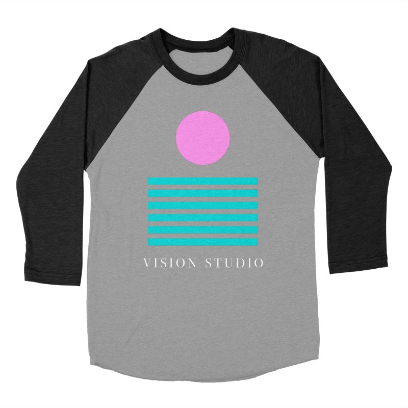 Def Miami Men's Baseball Triblend Longsleeve T-Shirt by Vision Studio