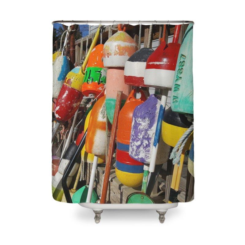 Vineyard Buoys  Home Shower Curtain by visitmv's Shop
