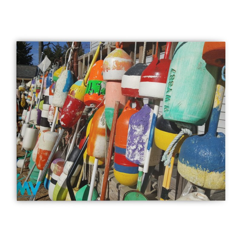 Vineyard Buoys  Home Stretched Canvas by visitmv's Shop