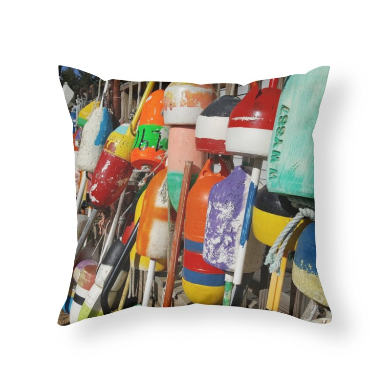 Vineyard Buoys  Home Throw Pillow by visitmv's Shop