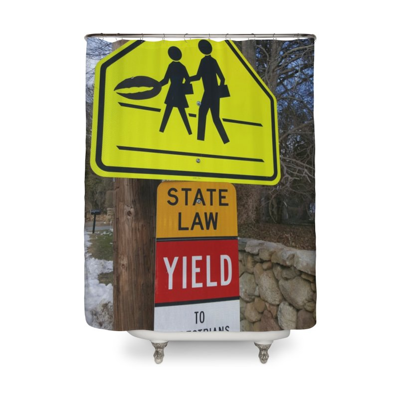 Pedestrian Crossing Home Shower Curtain by visitmv's Shop