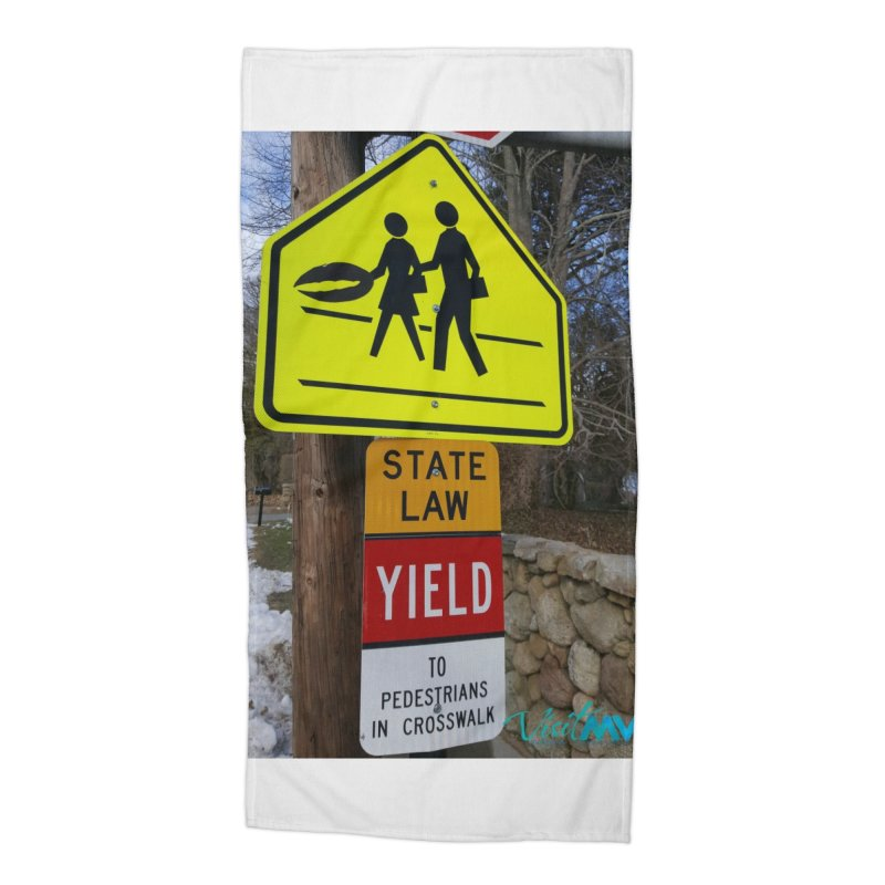 Pedestrian Crossing Accessories Beach Towel by visitmv's Shop