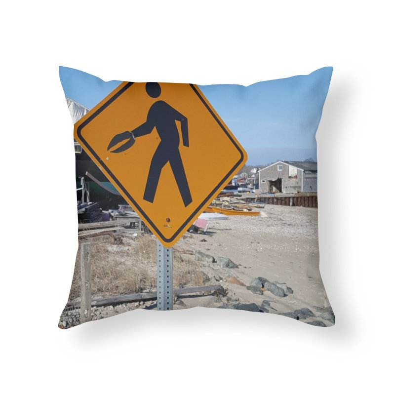 Pedestrian with Claw Home Throw Pillow by visitmv's Shop