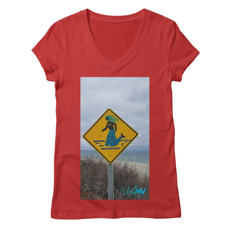 Mermaid Crossing Women's V-Neck by visitmv's Shop