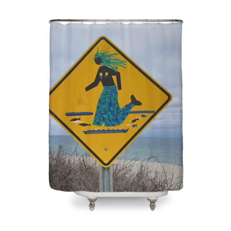 Mermaid Crossing Home Shower Curtain by visitmv's Shop
