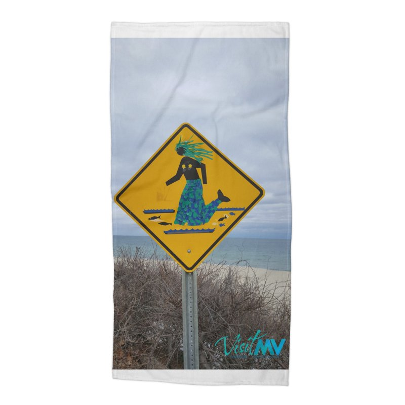 Mermaid Crossing Accessories Beach Towel by visitmv's Shop
