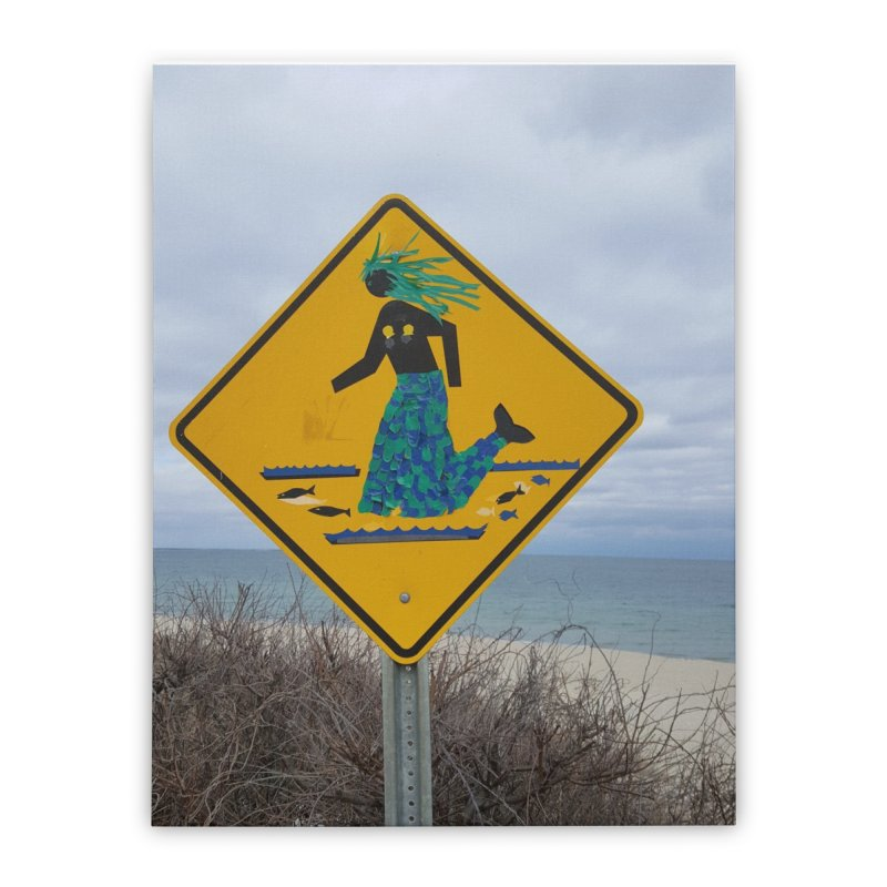 Mermaid Crossing Home Stretched Canvas by visitmv's Shop