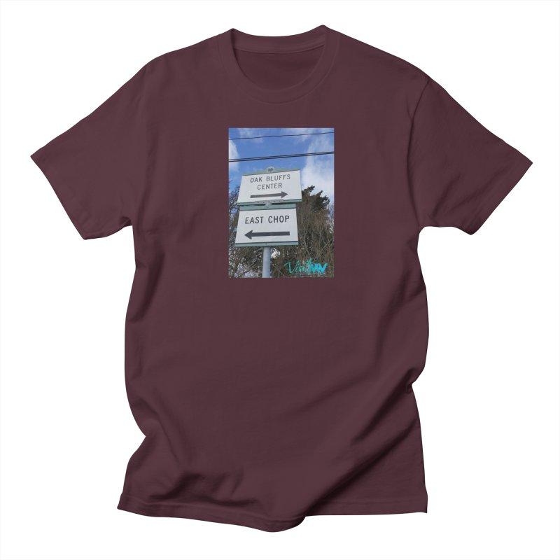 Oak Bluffs Road Signs Men's T-shirt by visitmv's Shop