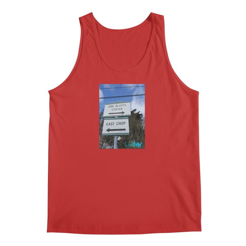 Oak Bluffs Road Signs Men's Tank by visitmv's Shop