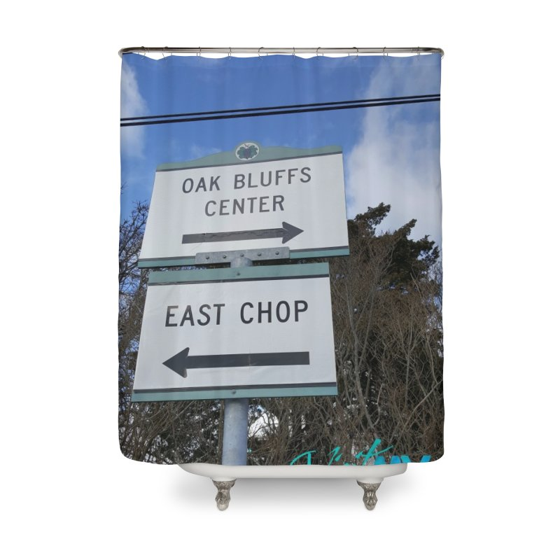 Oak Bluffs Road Signs Home Shower Curtain by visitmv's Shop