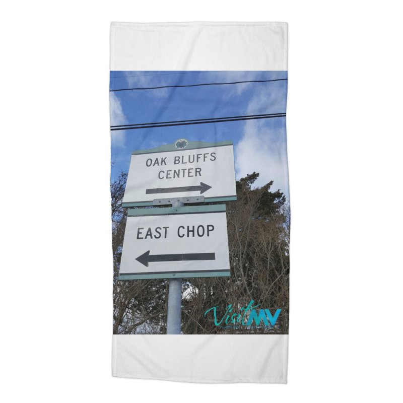 Oak Bluffs Road Signs Accessories Beach Towel by visitmv's Shop