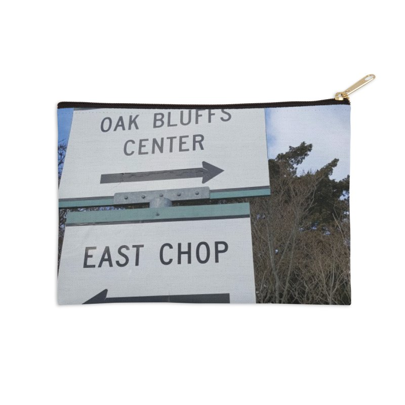 Oak Bluffs Road Signs Accessories Zip Pouch by visitmv's Shop