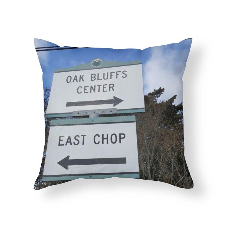 Oak Bluffs Road Signs Home Throw Pillow by visitmv's Shop
