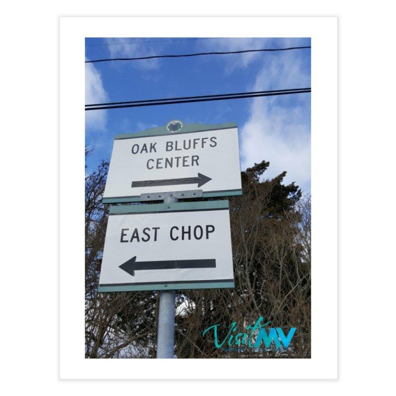 Oak Bluffs Road Signs Home Fine Art Print by visitmv's Shop