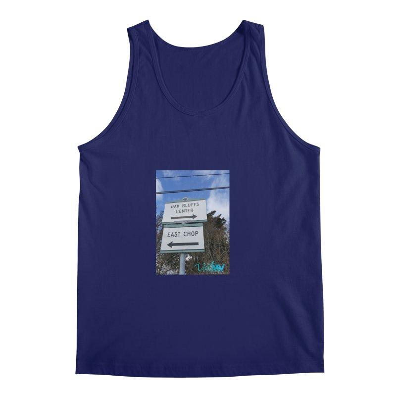 Oak Bluffs Road Signs Men's Regular Tank by visitmv's Shop