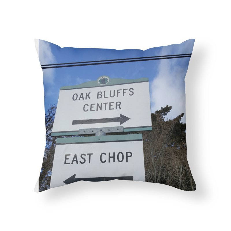 Oak Bluffs Road Signs Home Throw Pillow by visitmv's Shop