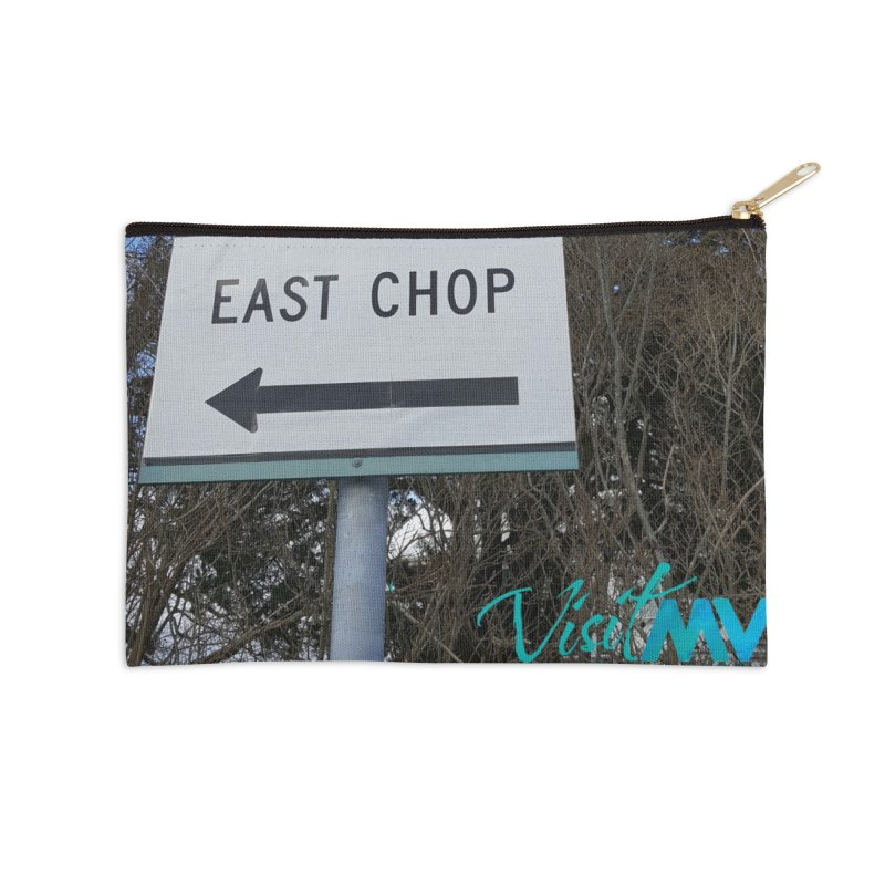 Oak Bluffs Road Signs Accessories Zip Pouch by visitmv's Shop